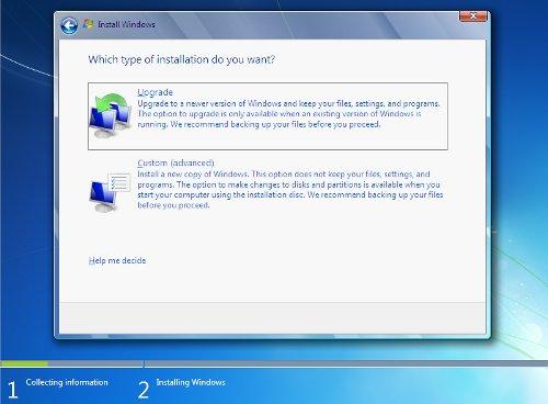 Windows7 Tipo De Instalacion