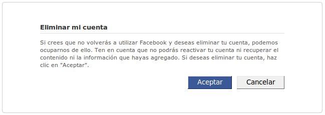 eliminarcuentafacebook Borrar Facebook