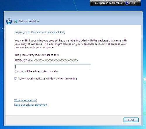 serial windows 7