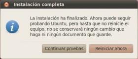 Reiniciar Ubuntu Install
