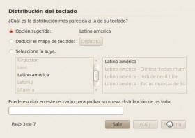 Seleccion Teclado Ubuntu