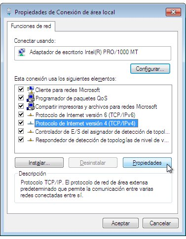 2 Propiedades de Conexion de area local Cambiar DNS en Windows 7 – OpenDNS Windows 7