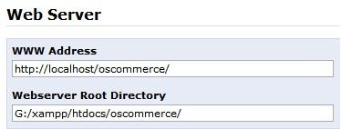 Configurar osCommerce