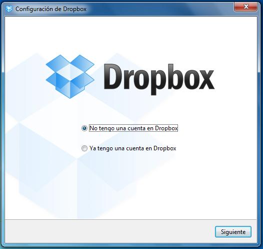 Configurar Dropbox