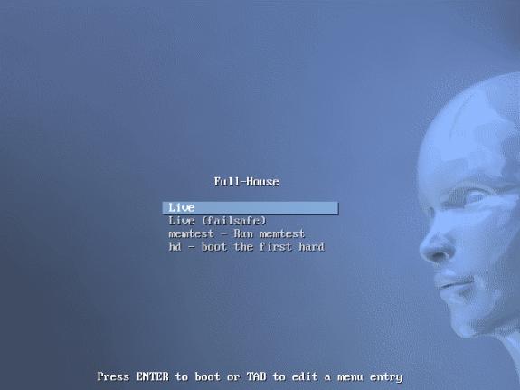 inicio Debian Full House