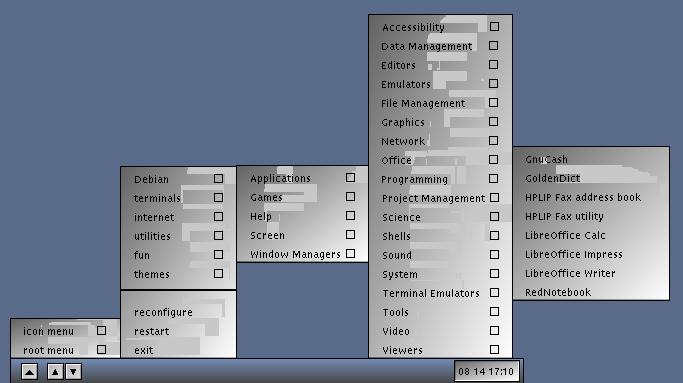 problemas graficos Debian Live VTWM
