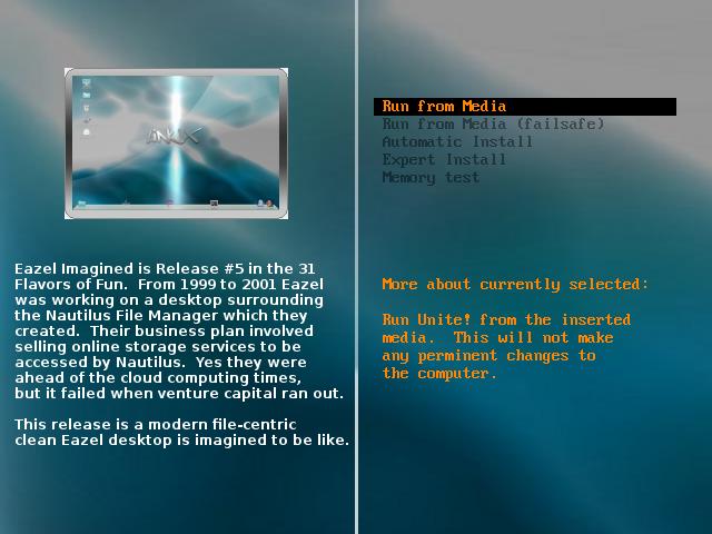 eazel imagined - home page