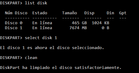 Select Disk Clean