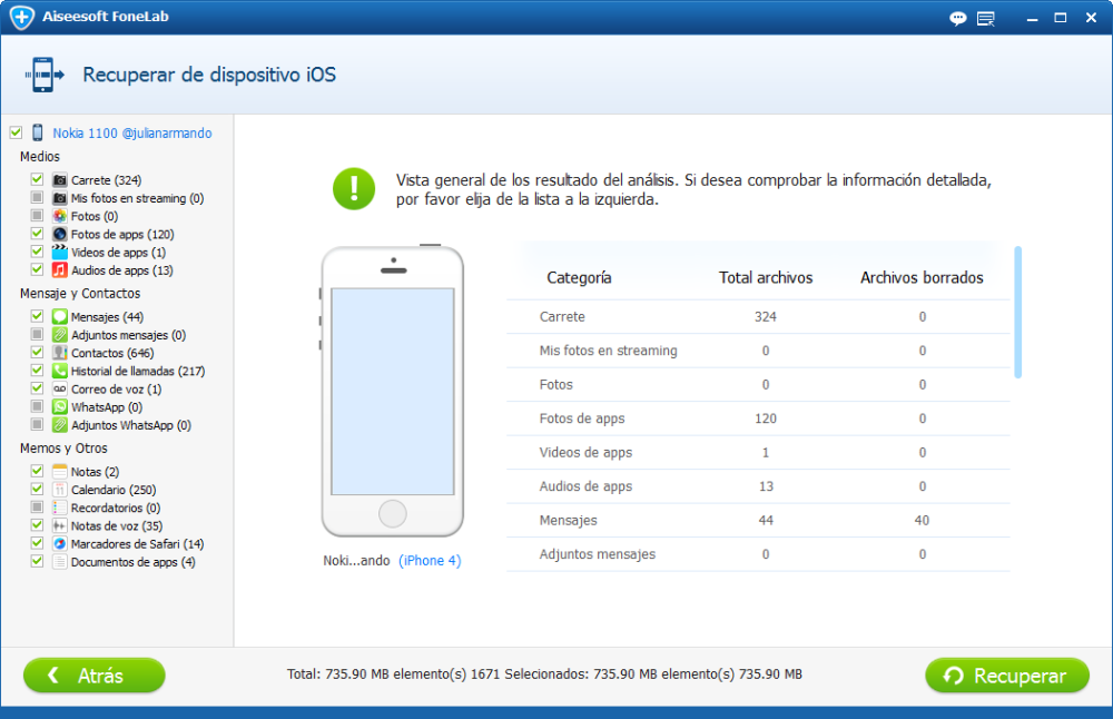 Recuperacion iPhone