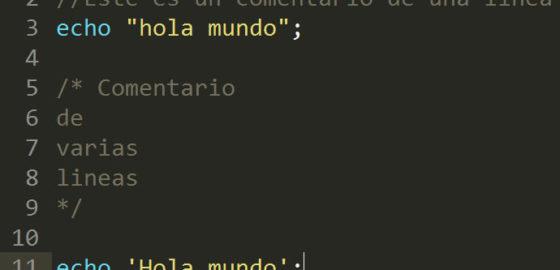 Comentarios PHP